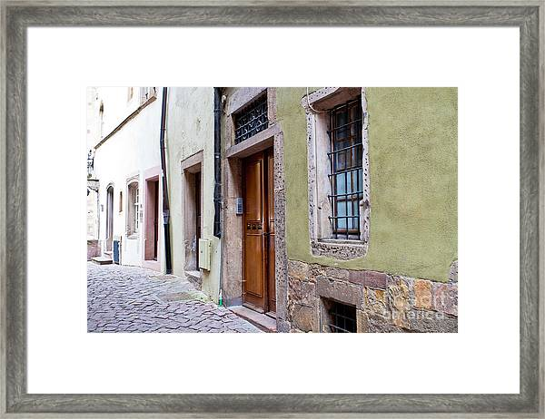 Old  Town Plate 2 Framed Print