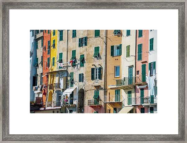 Old Town Portovenere Framed Print