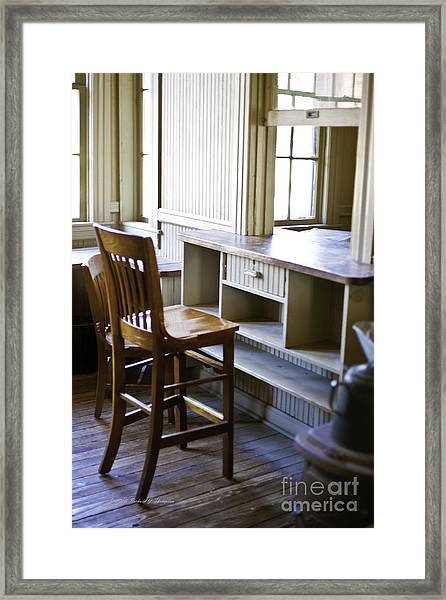 Old Train Ticket Booth Framed Print