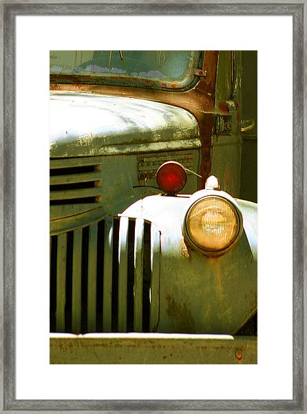 Old Truck Abstract Framed Print