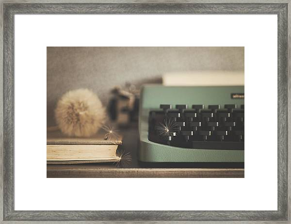Old Typewriter Framed Print by Alicia Llop