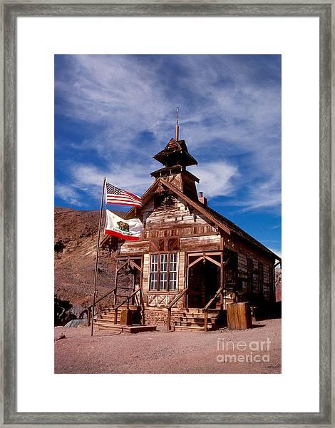 Old West School Days Framed Print