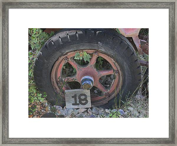 Old Wheel Framed Print
