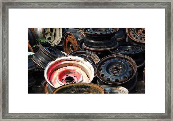 Old Wheels Framed Print