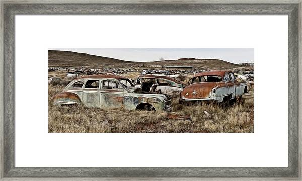 Old Wrecks Framed Print
