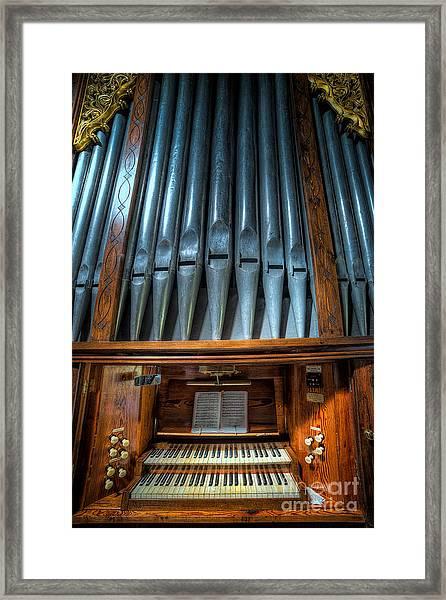 Olde Church Organ Framed Print