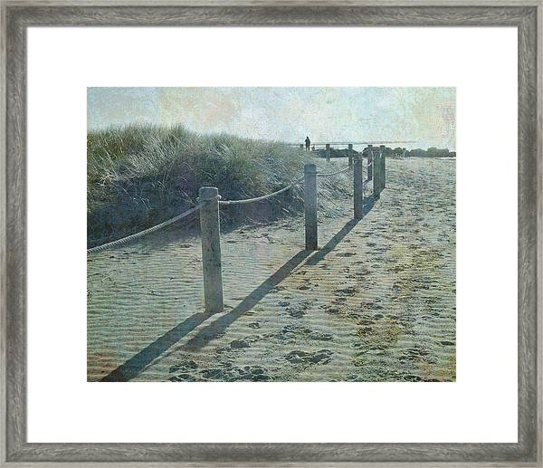 Olde Worlde Beach Framed Print