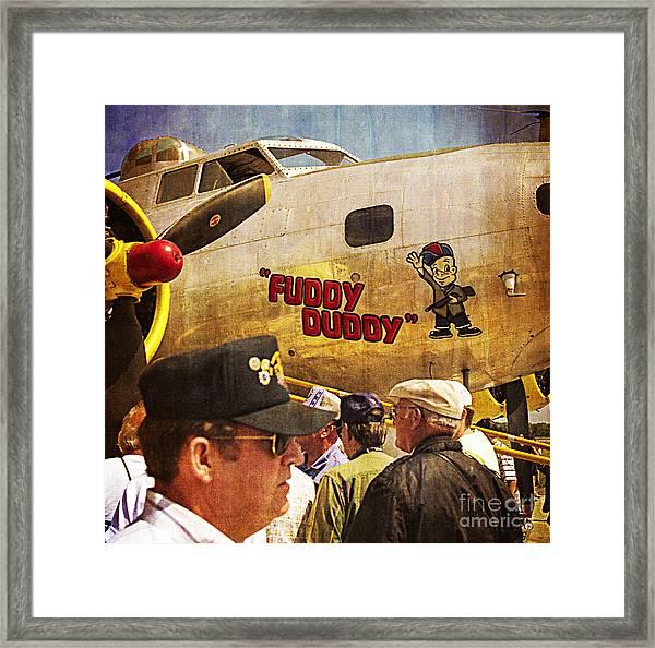 Ole Fuddy Duddy Framed Print