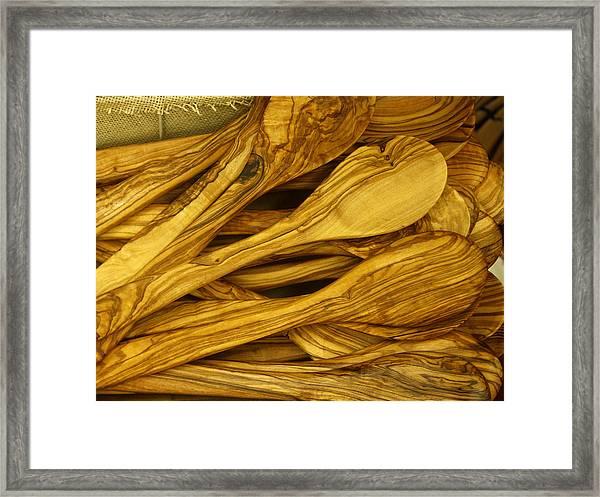 Olive Wood Framed Print