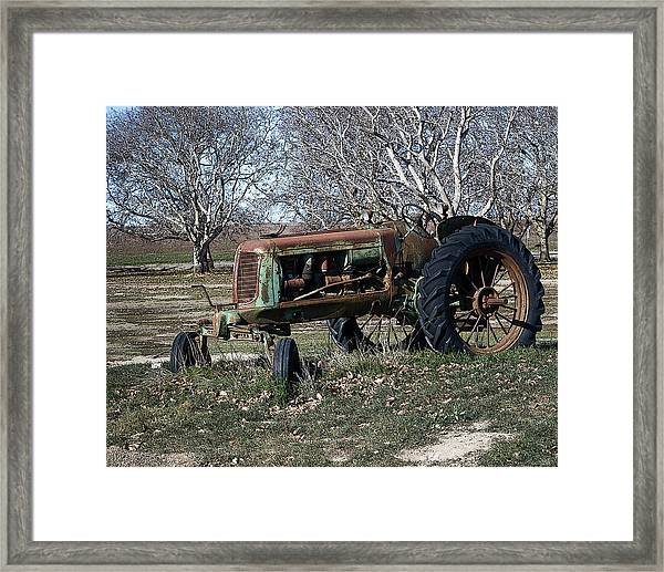 Oliver Farm Tractor Framed Print