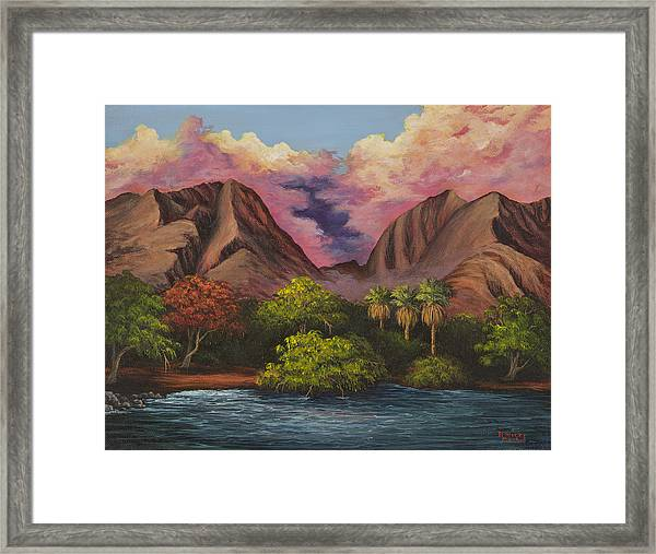 Olowalu Valley Framed Print