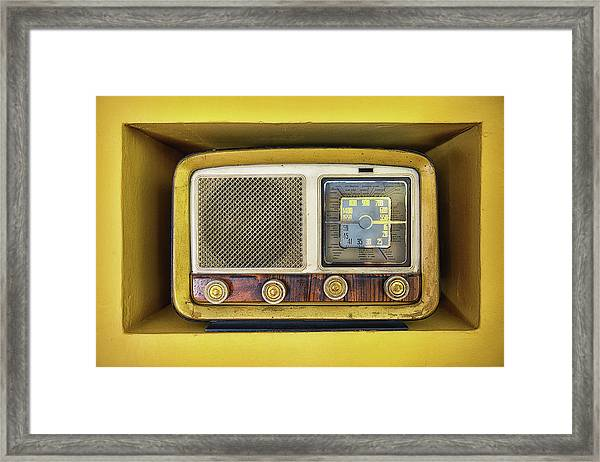 Ols School Radio Framed Print