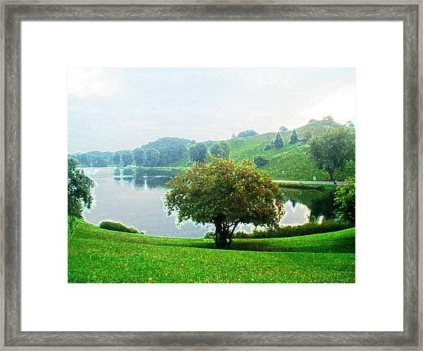 Olympiapark In Munich Framed Print