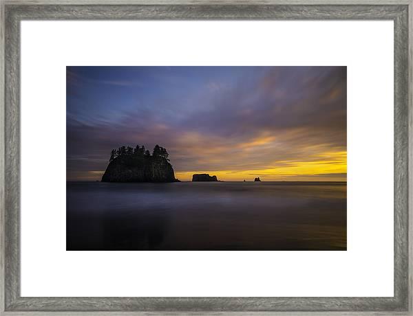 Olympic Coast Sunset Framed Print