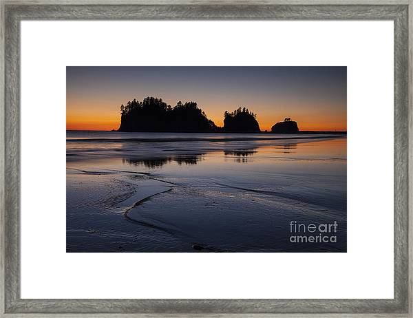 Olympic Peninsula Sunset Framed Print