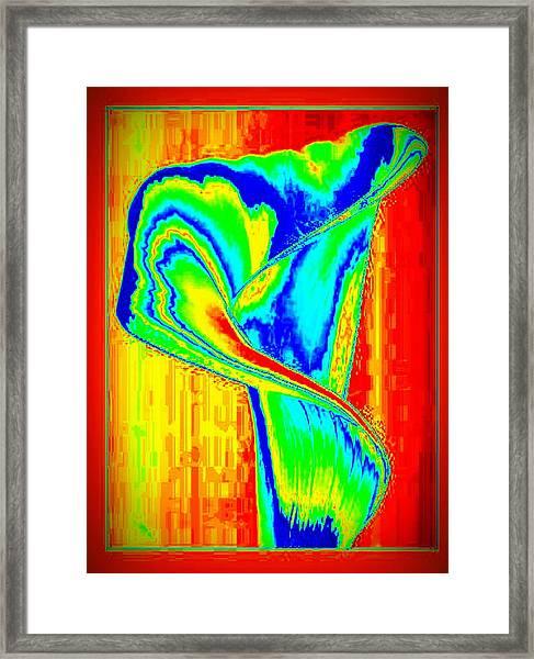 Ombre Rose Framed Print