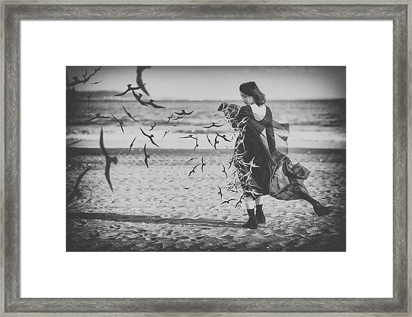 Ominous Call Death Framed Print