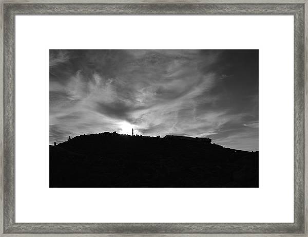 Ominous Sky Over Mt. Washington Framed Print