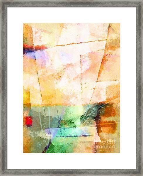 On A Light Day Framed Print