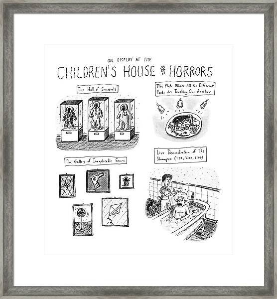 On Display At The Children's House Of Horror: Framed Print