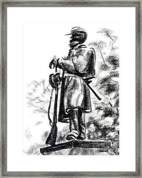On Duty In Brigadoon  No Ch101 Framed Print