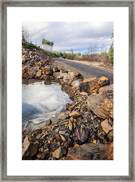 On Frozen Pond Collection 6 Framed Print