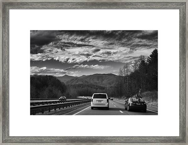 On Interstate 40 West Framed Print
