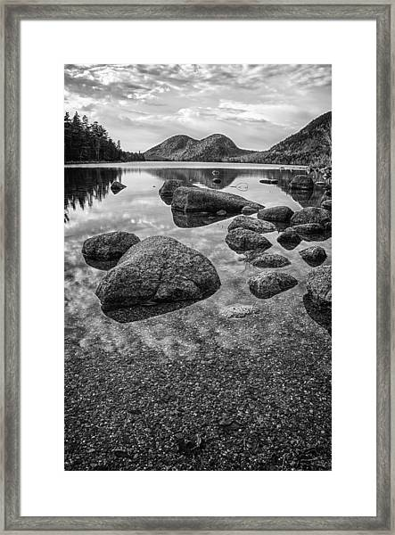 On Jordan Pond Framed Print