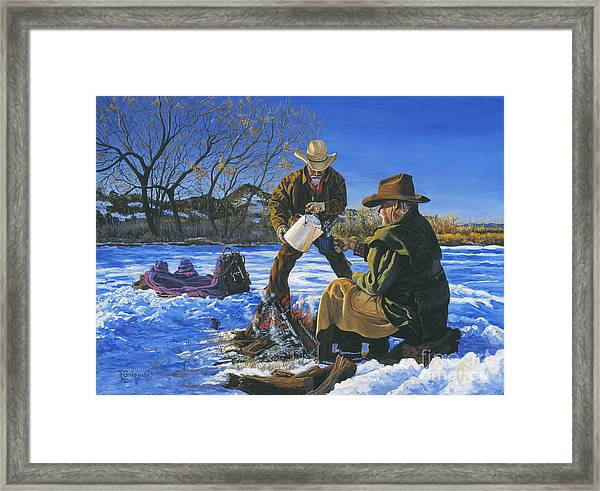 On More Cup Framed Print