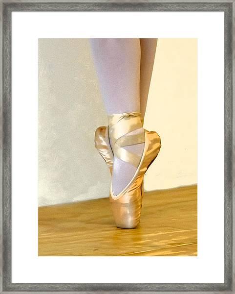 Ballet Toes On Point Framed Print