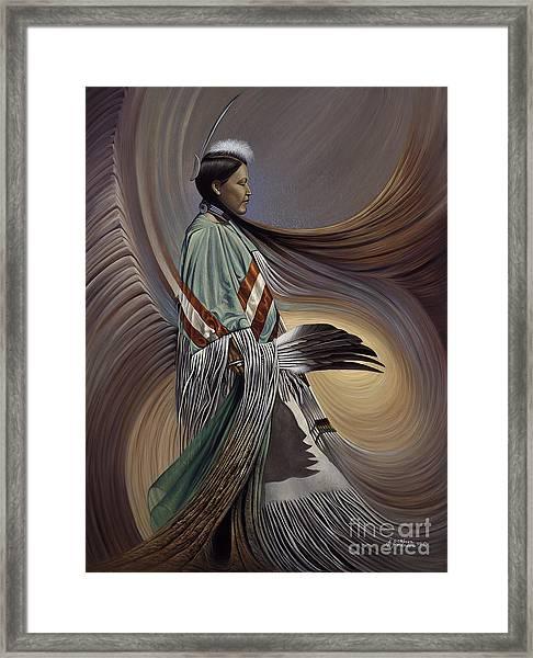 On Sacred Ground Series I Framed Print
