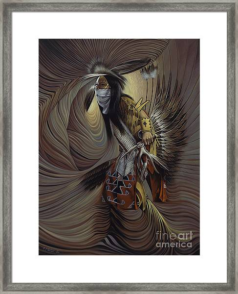 On Sacred Ground Series IIl Framed Print