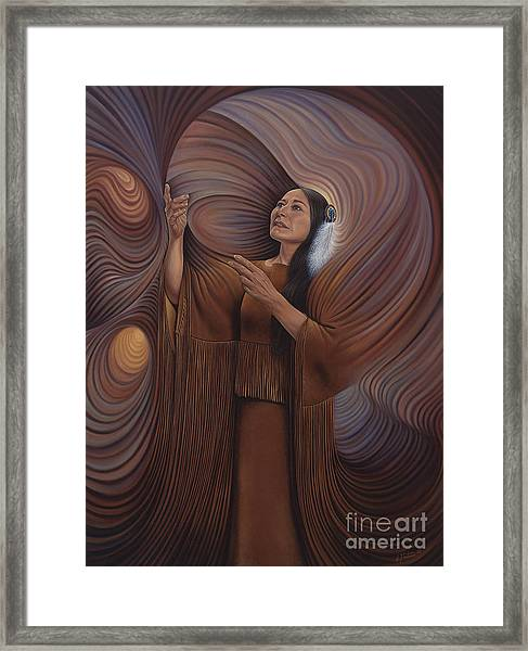 On Sacred Ground Series V Framed Print