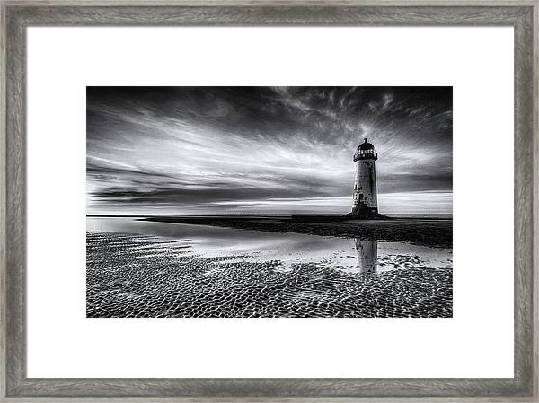 On Talacre Beach Framed Print
