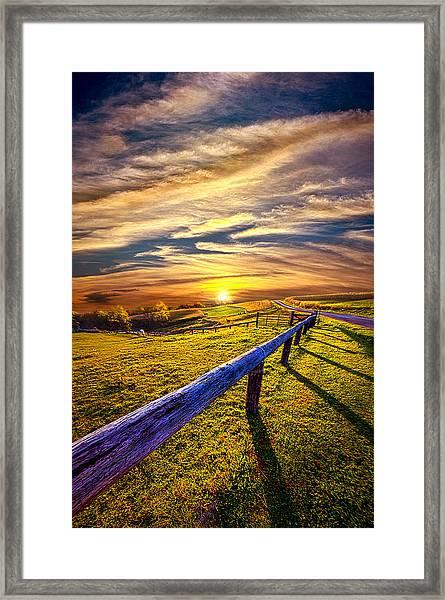 On The Brighter Side Framed Print