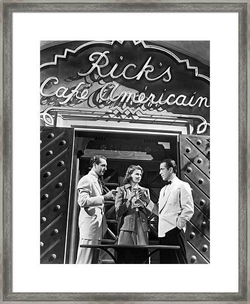 On The Casablanca Set Framed Print