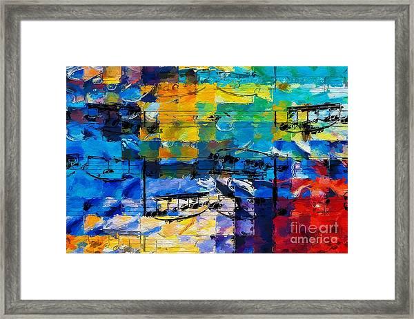 On The Grid 2 Framed Print
