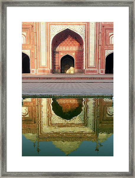 On The Grounds Of The Taj Mahal Framed Print