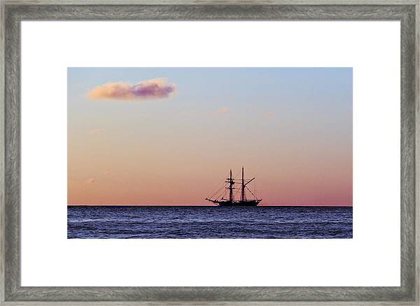 Framed Print featuring the photograph On The Horizon by Debbie Cundy