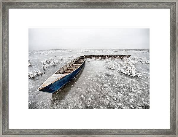 On The Ice... Framed Print