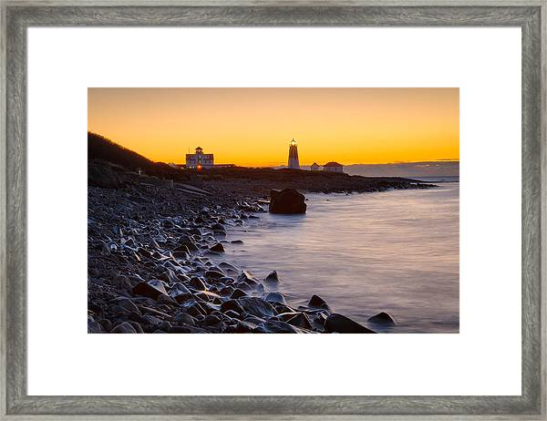 On The Point Framed Print