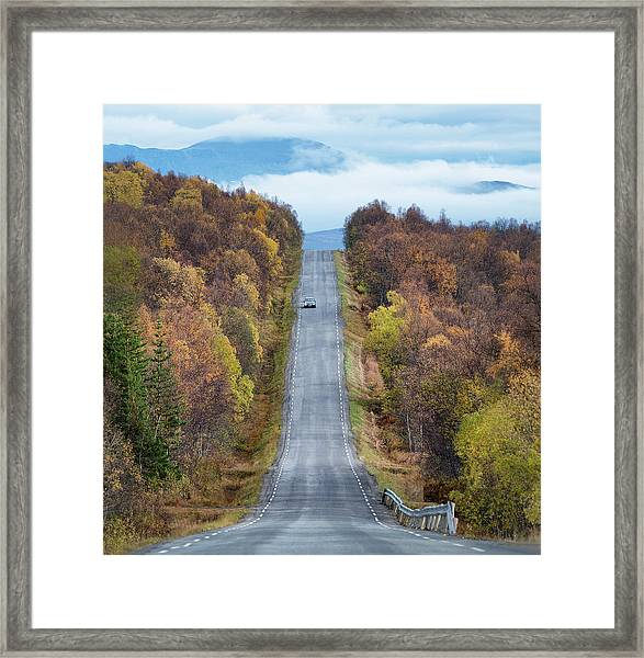 On The Road Again Framed Print by Christian Lindsten