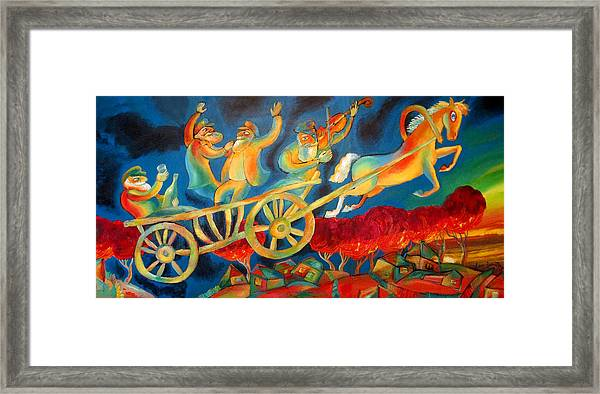 On The Road To Rebbe Framed Print
