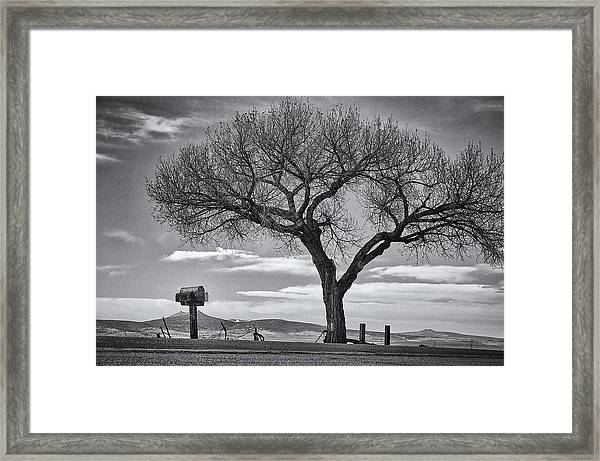 On The Road To Taos Framed Print
