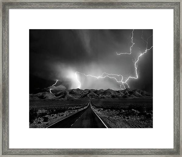 On The Road With The Thunder Gods Framed Print
