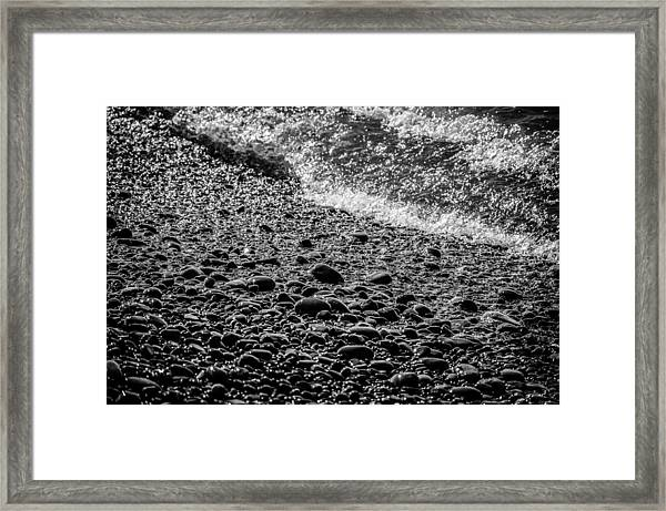 On The Rocks At French Beach Framed Print