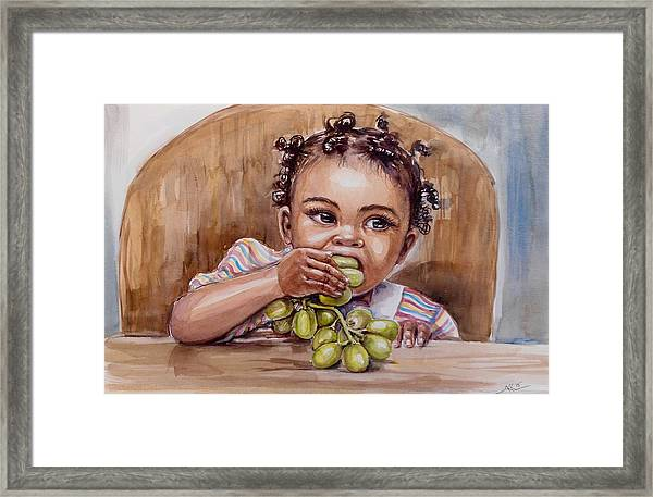 On The Table Framed Print