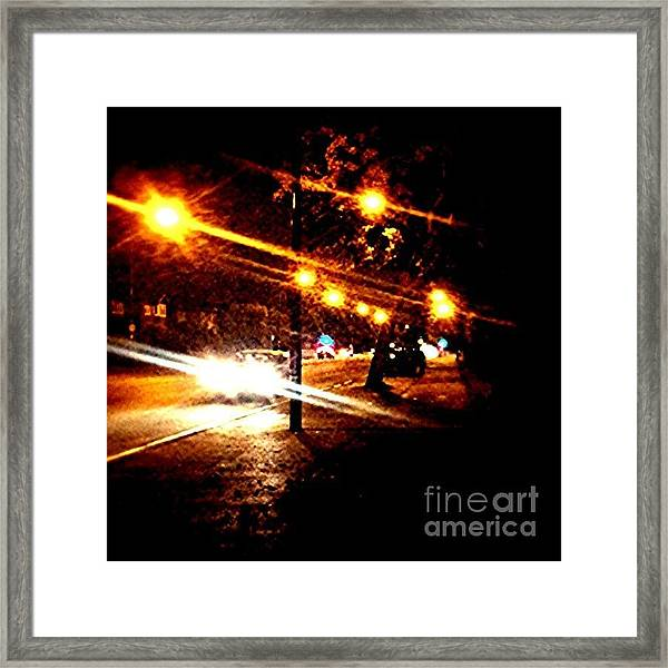 On The Way Home Tonight Framed Print