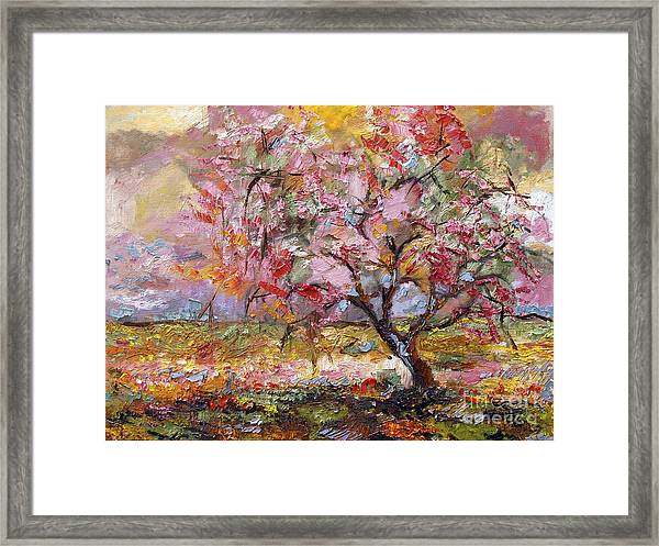On The Way To Grandma There Is A Tree I Love Spring Framed Print