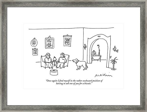 Once Again I Find Myself In The Rather Awkward Framed Print